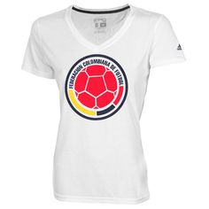 Colombia adidas Women's Futbol Crest T-Shirt - White