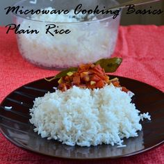 Divya's culinary journey: Cooking Plain Rice in the microwave