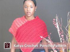 Free Pattern - Katya #Crochet Poncho pattern from Yarn Obsession. Easy beginner pattern beautiful advanced looking results.