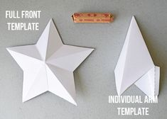 Finding the perfect tree topper can be a challenge. This is a tutorial for a DIY star ornament or tree topper which includes template and instructions. Diy Tree Topper, Christmas Tree Star Topper, Star Tree Topper, Christmas Tree With Gifts, Christmas Star, Diy Christmas Ornaments, Christmas Decorations, Christmas Ideas, Star Template