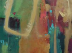 """""""Dare To Be Happy"""" by Jane Ingols. 30x40 inches. Acrylic on gallery wrapped canvas. #abstract #rainbow"""