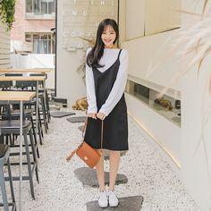 #envylook Double D-Ring Buckled Slip Dress #koreanfashion #koreanstyle #kfashion #kstyle #stylish #fashionista #fashioninspo #fashioninspiration #inspirations #ootd #streetfashion #streetstyle #fashion #trend #style