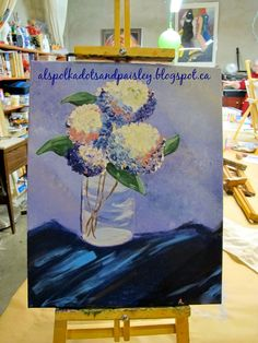 Polka Dots and Paisley: Painted Flowers: My First Art Lesson