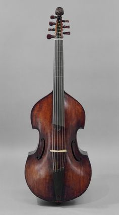 BASS VIOL 18th century German - the six stringed viol is the baroque ancestor of the double bass / it has frets like a guitar and C-shaped openings