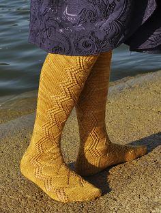 Ravelry: Rambla Socks pattern by Alison Stewart-Guinee