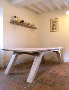 """Arch Leg Dining Table. Prices from £2,100. """"I have just taken delivery of my table and I have to say it is BEAUTIFUL. Please thank the 'Makers' for their wonderful work, I am chuffed to bits. #Reclaimed #Oak #Dining #Table"""