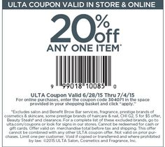 October 2013 shopping day 20 percent off coupon dicks sporting goods ulta coupon ulta promo code from the coupons app off a single item at ulta or online via promo code 306084 january fandeluxe Choice Image