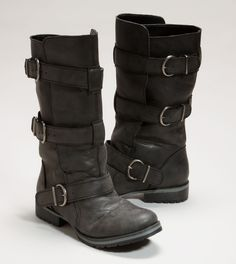 I want! American Eagle AEO Buckle Moto Boot