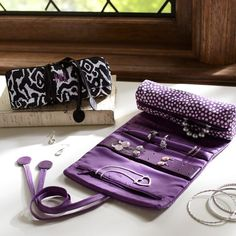 Mini Dot Jewelry Roll   PBteen...great gift idea