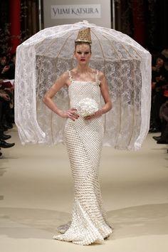 crazy veil and amazing dress