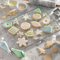 6 Tips for Decorating Christmas Cookies                     -                                                   Need quick and easy ideas for decorating Christmas cookies? Take one cutout cookie recipe, add three glazes, icings or frostings, and try these six simple decorating techniques to create holiday cookies that will come together in no time!