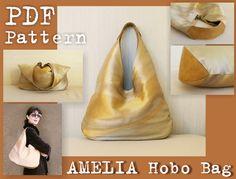 PDF-Schnittmuster Amelia Hobo Bag INSTANT von DelindaBoutique