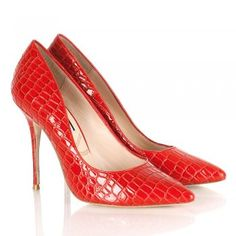 Lucy Choi Adelite Red Leather Patent Heeled Women's Shoe