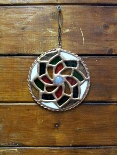 Rounded Pendant. Flower. Home decor. Rounded Stained by DizArtEx