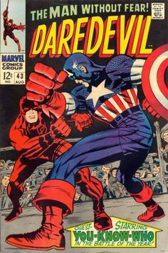 For sale marvel comics daredevil 43 captain america gene colan artwork jack kirby silver age comic book emorys memories. Marvel Comics, Marvel Comic Books, Comic Book Heroes, Comic Books Art, Comic Superheroes, Star Comics, Marvel Heroes, Comic Book Artists, Comic Book Characters