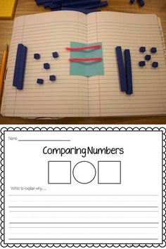 This FREE printable includes one sheet where students compare two numbers and write to explain their thinking. The second page has sets of two-digit numbers where students write the symbols for greater than, less than or equal to, to compare the numbers.