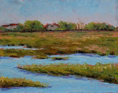 """Daily Paintworks - """"Isle of Palm"""" - Original Fine Art for Sale - © Carol Pighin"""