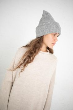Lauren Manoogian Carpenter Hat in Felt Double Knitting, Well Dressed, Simple Style, Her Style, Knitwear, Winter Hats, Beanie, Style Inspiration, Carpenter
