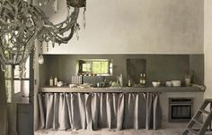 Provence kitchen in grey...beautiful.