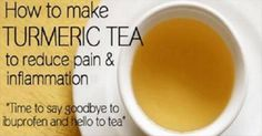 How To Make Turmeric Tea For Removing Pain