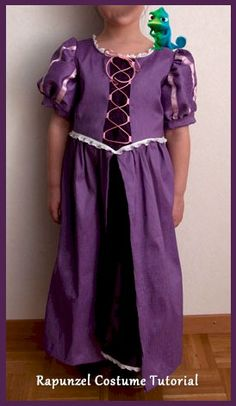 Girls' Rapunzel Costume Tutorial & Free Pattern - sew-whats-new.com