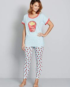 Cute PJ's to change into as soon as you get home on cold days..! ❤️