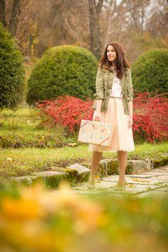 tulle skirt parka sequins personal style dresssidestory