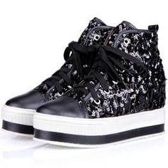 on sale e4592 17c46 sequined platform sneakers Platform Sneakers, Bang Bang, Asian Fashion,  Sequins