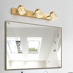 Nordic LED Mirror Front Light Brass Acrylic Wall Lamp Bedroom Living Room JQ3309 Contemporary Wall Lights, Modern Wall Lights, Fitted Bedrooms, Lighting Suppliers, Made To Measure Curtains, Led Mirror, Chandelier Pendant Lights, Bedroom Lamps, Light Effect