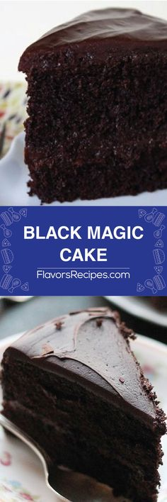Black Magic Cake - Enjoy Your meals Homemade Desserts, Homemade Cakes, Easy Desserts, Dessert Recipes, Dessert Ideas, Delicious Cake Recipes, Yummy Cakes, Sweet Recipes, Black Magic Cake