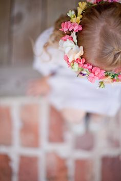 floral head piece for the flower girl | Kelly Hornberger