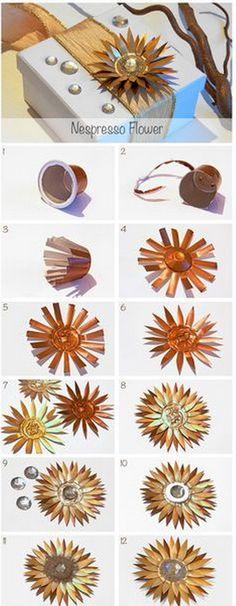 EL MUNDO DEL RECICLAJE: Recicla cápsulas de café y hazte una flor