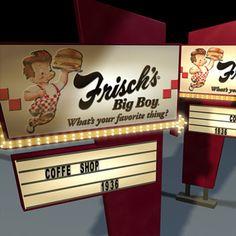 3D Model Big Boy Sign 01 - 3D Model