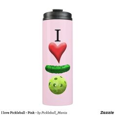 I love Pickleball - Pink - Thermal Tumbler