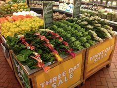 New Years greens display, sold highest % in the region,#3 day sale !