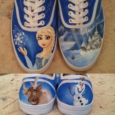 Frozen inspired shoes I painted for a friend!