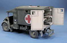 Austin K2Y Ambulance Plastic Model Kits, Plastic Models, Wooden Truck, Truck Scales, Rubber Raincoats, Model Tanks, Model Hobbies, Military Modelling, Miniature Figurines