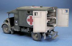 Austin K2Y Ambulance Plastic Model Kits, Plastic Models, Truck Scales, Wooden Truck, Rubber Raincoats, Model Tanks, Model Hobbies, Military Modelling, Miniature Figurines