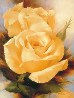 Yellow Roses Print by Igor Levashov / Art.com
