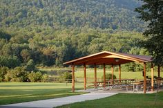 simple community pavilion with room for meetings, picnics, pot lucks and all of the seasonal celebrations