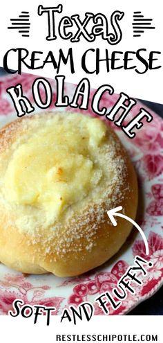 Cream Cheese Kolache Recipe, Cream Cheese Recipes, Kolaczki Recipe, Homemade Desserts, Easy Desserts, Delicious Desserts, Yummy Food, Breakfast Recipes, Snack Recipes