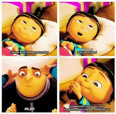 Despicable meOne of the best Films everGru& Edith& Margo& Anges