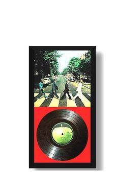 "HOBBY FRAMES LP DISPLAY CASE for Vintage 12"" Record Album Cover & Vinyl - BLACK"