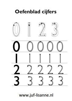 www.juf-lisanne.nl Cijfers 0, 1, 2 en 3 leren schrijven.