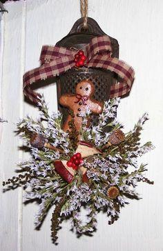 Christmas Gifts Primitives Gingerbread MAM Nutmeg Grater | eBay