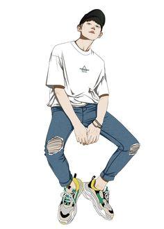 ♡ truongkimthu ♡ Anime Art Girl, Manga Art, Anime Guys, Boys Wallpaper, Cartoon Wallpaper, Character Illustration, Illustration Art, Character Art, Character Design