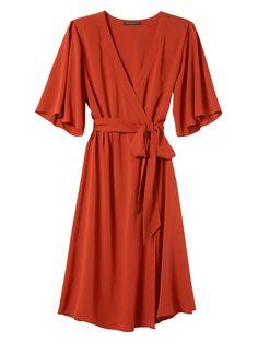 Kimono Sleeve Dress | Banana Republic