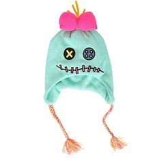 Disney Lilo Stitch Scrump Knit Beanie Hot Topic ($1) ❤ liked on Polyvore featuring accessories, hats, disney, colorful hats, embroidered beanie, disney hats and embroidery hats