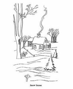 Coloring Pages Winter Scenery Pictures