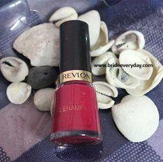 Revlon Nail Enamel Polish in Shade Cherry Berry 421 Review Swatch http://www.brideeveryday.com/revlon-nail-enamel-polish-shade-cherry-berry-421-review-swatch